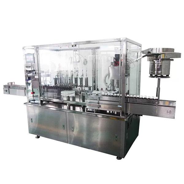 Machine de remplissage et de capsulage automatique de sirop principal de 8 pour la chaîne de production pharmaceutique