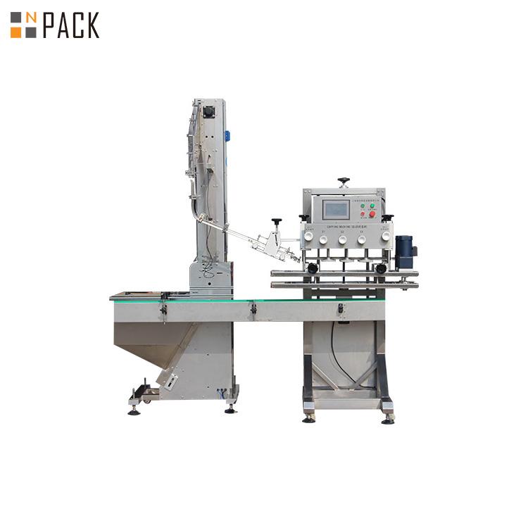 Machine de capsulage de bouteille de shampooing rotative
